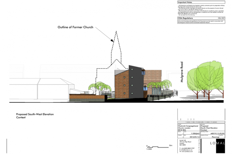 Woolwich Congregational Church, London – Planning