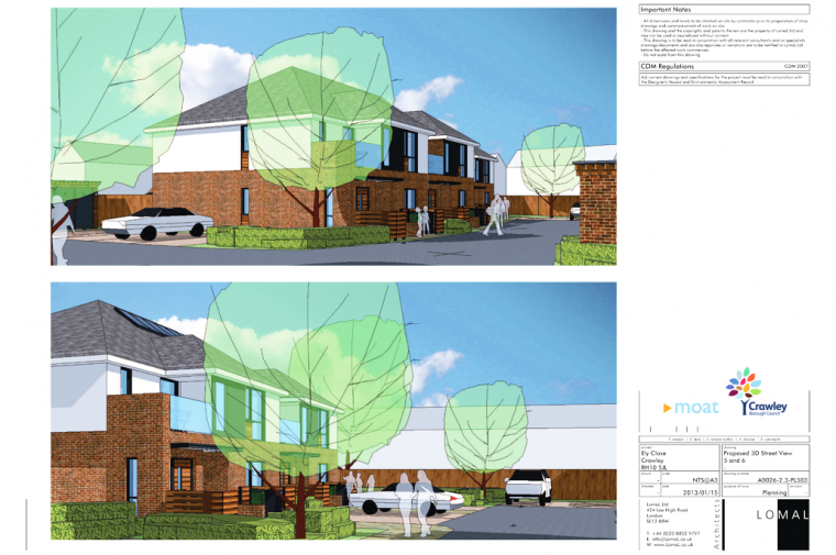 Ely Close, Crawley – Planning