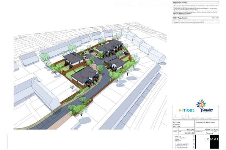 Ely Close, Crawley – Planning