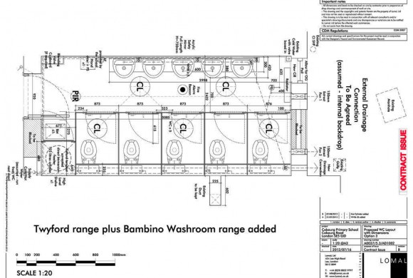 Cobourg Primary School, London – New Toilets Block – Construction
