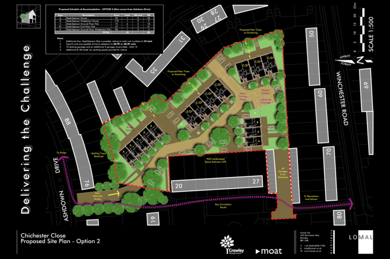Chichester Close, Crawley – Competition