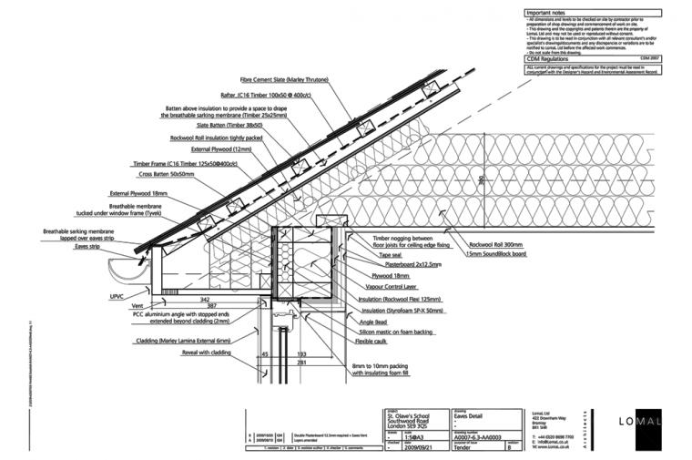 St Olave's Prep School, London – Construction